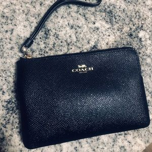 Coach wristlet leather Navy